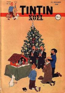 Christmas Tintin comics 1948
