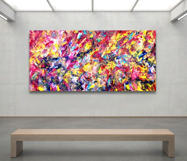 Efflorescence - Abstract Expressionism by Estelle Asmodelle