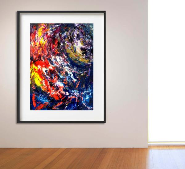 Fire Dance - Abstract Expressionism by Estelle Asmodelle
