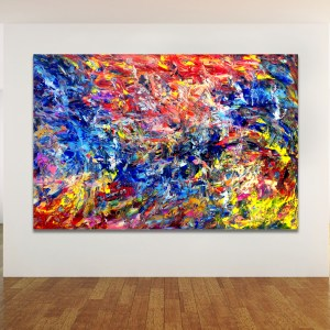Interplay - Abstract Expressionism by Estelle Asmodelle