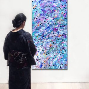 Ukiyo no kioku (Memories of Floating World) - Abstract Expressionism by Estelle Asmodelle