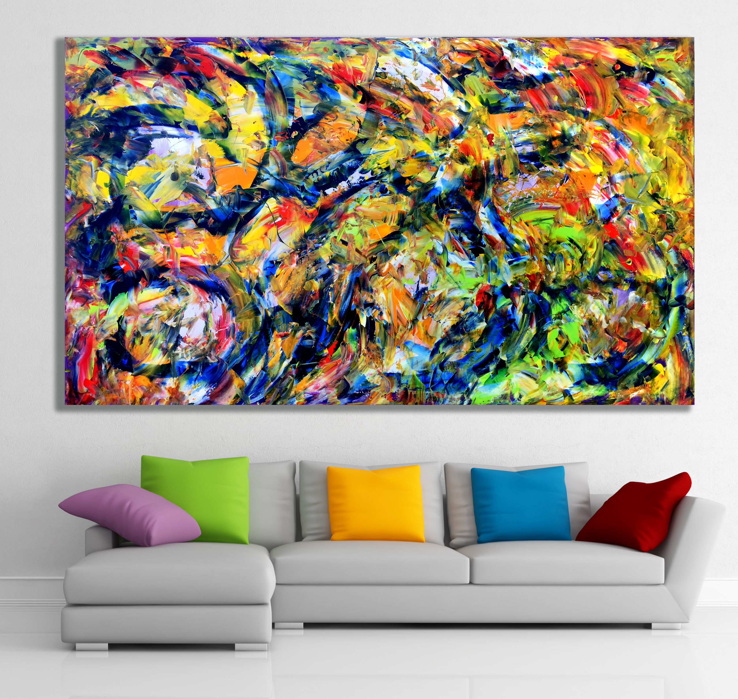 Tethered Emotions - Abstract Expressionism by Estelle Asmodelle