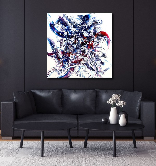 Entwined Embrace - Abstract Expressionism by Estelle Asmodelle