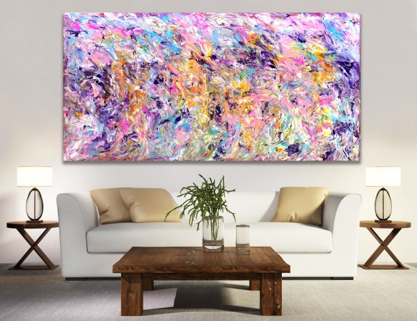Gentle Impasto - Abstract Expressionism by Estelle Asmodelle