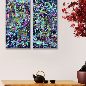 Colour Freedom - Abstract Expressionism by Estelle Asmodelle
