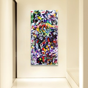 Near You - Abstract Expressionism by Estelle Asmodelle