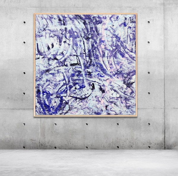Subtlety in Movement [FRAMED] - Abstract Expressionism by Estelle Asmodelle