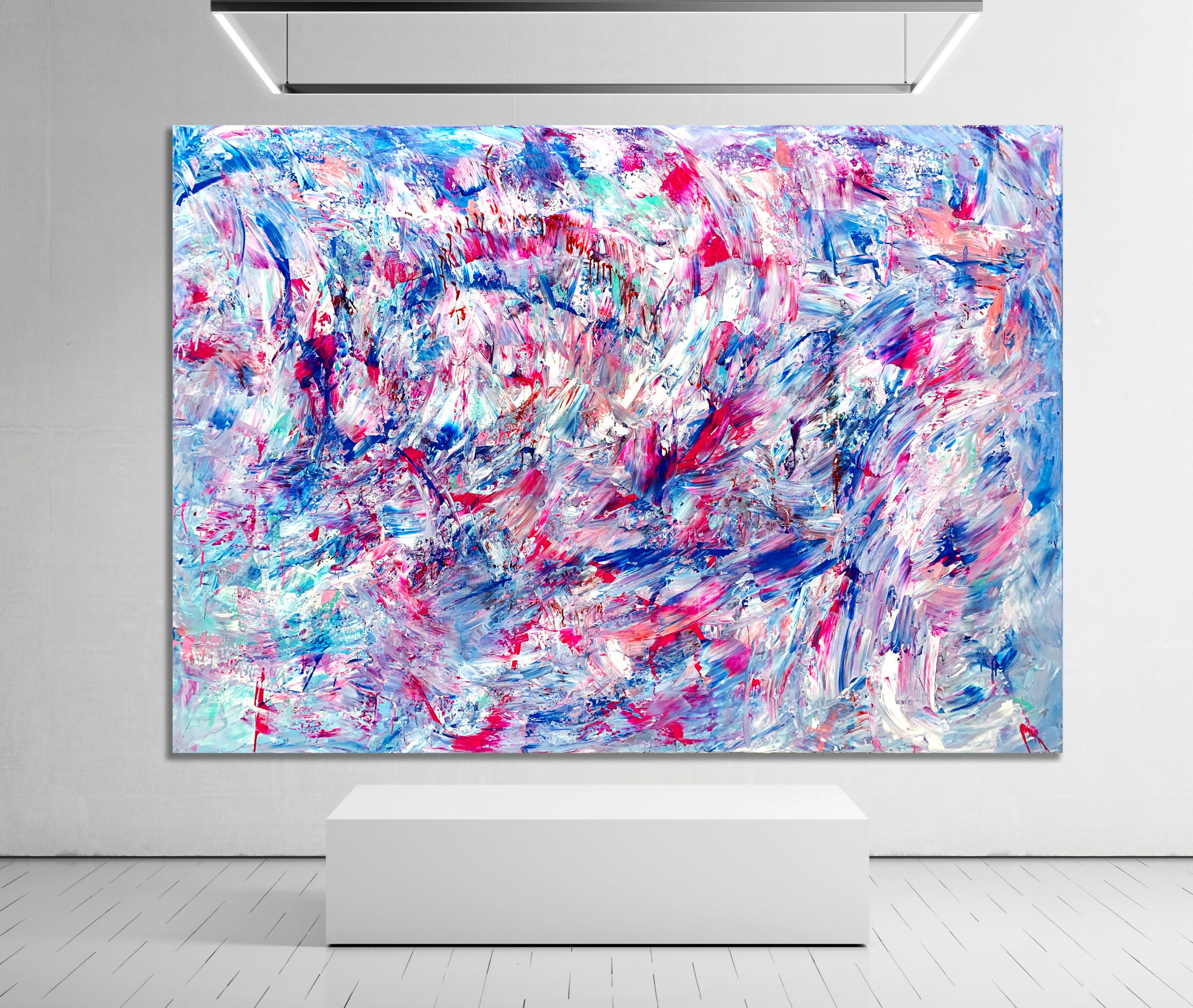 Exclusion Zone - Abstract Expressionism by Estelle Asmodelle