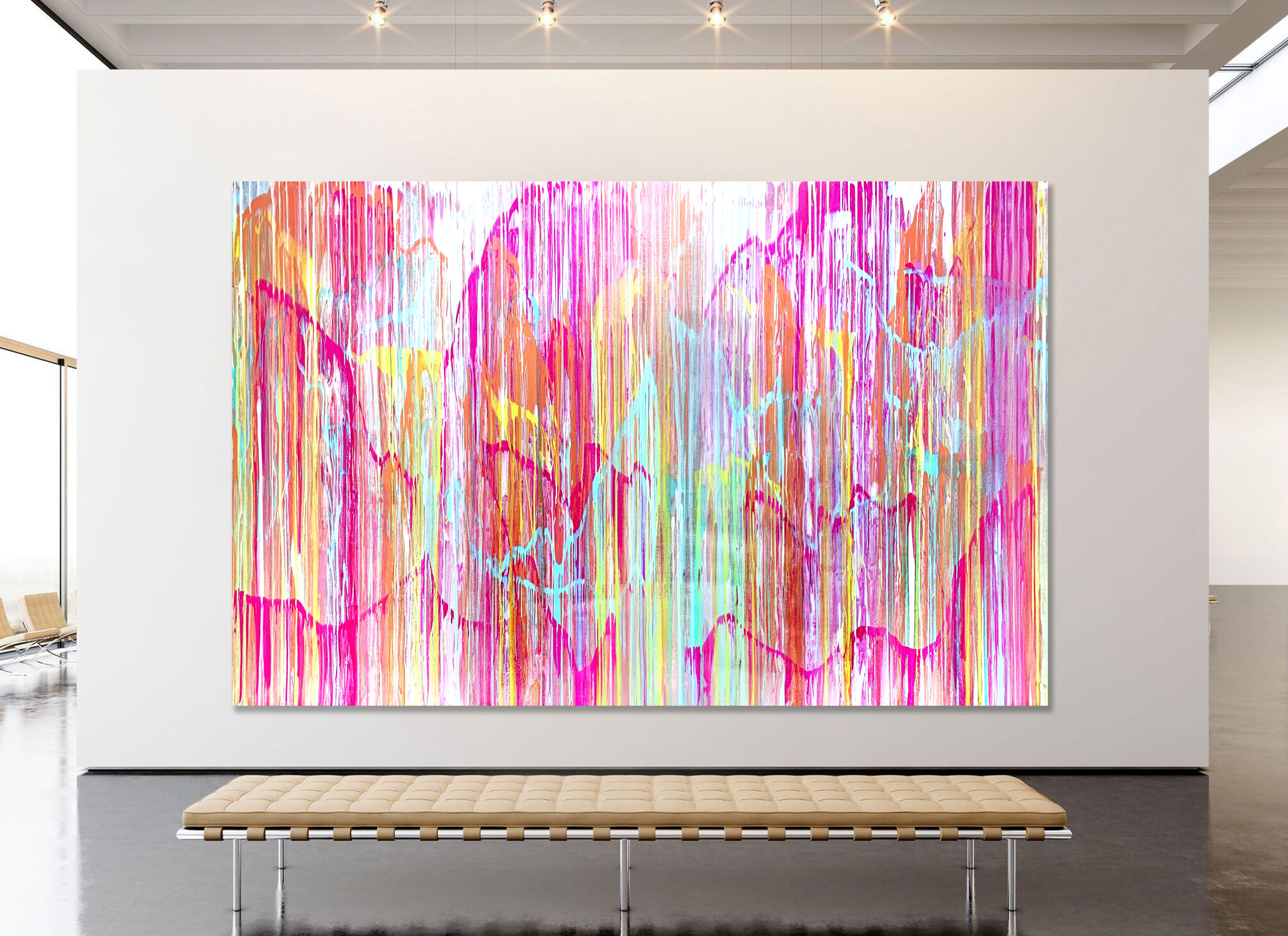 Pastel Landscape - abstract expressionsim by Estelle Asmodelle
