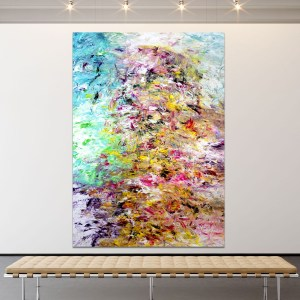 A Portrait of the Future - Abstract Expressionism by Estelle Asmodelle