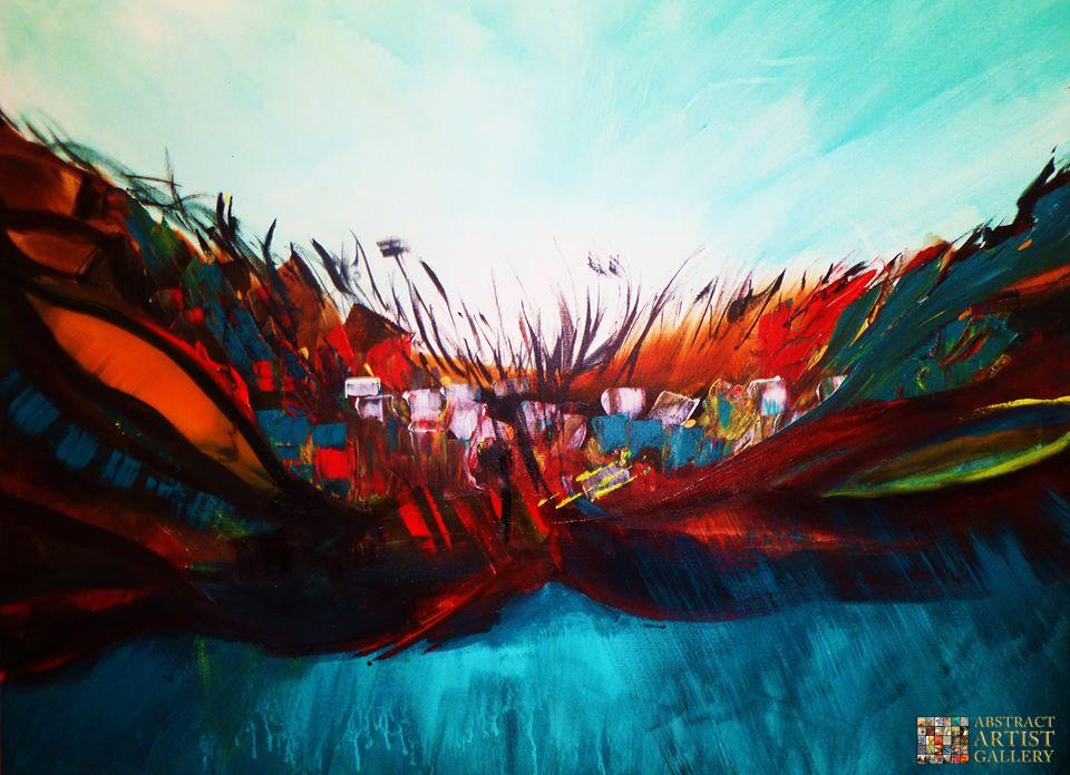 Abstract Art Painting by Mo Tuncay
