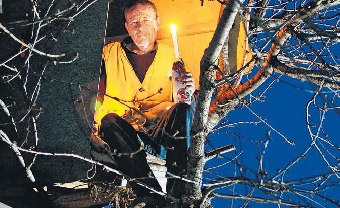 Stevan Graovac vive su un albero