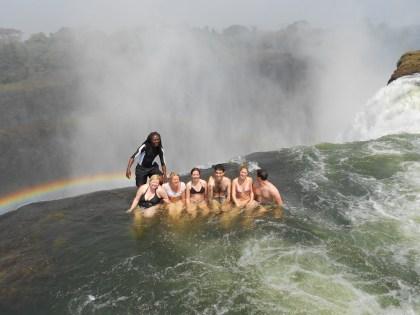 Devil pool - La piscina del diavolo alle cascate vittoria Zimbabwe