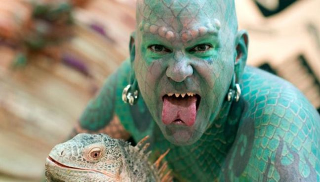 Erik Sprague - lizard man - uomo lucertola2