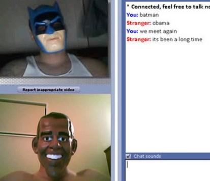 Batman vs Obama - Chatroulette