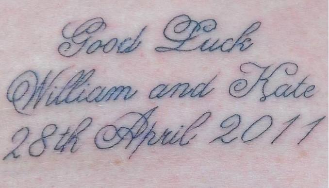 tatuaggio matrimonio reale fail