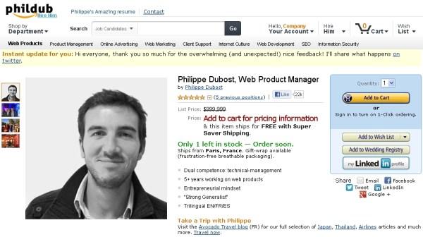 Compila il CV ispirandosi ad una pagina Amazon (2)