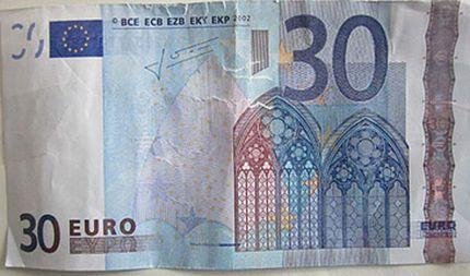 Paga con banconota da 30 euro