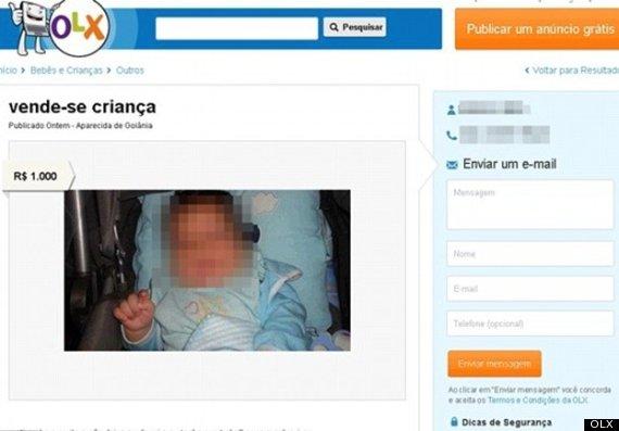Mette in vendita il figlio su internet perché piangeva troppo