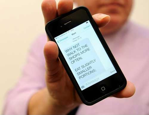 SMS motivazionali alle persone obese