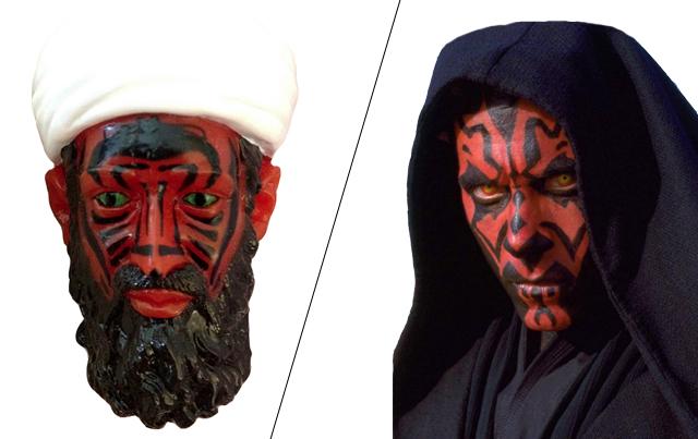 Confronto tra Bin Laden e Darth Maul