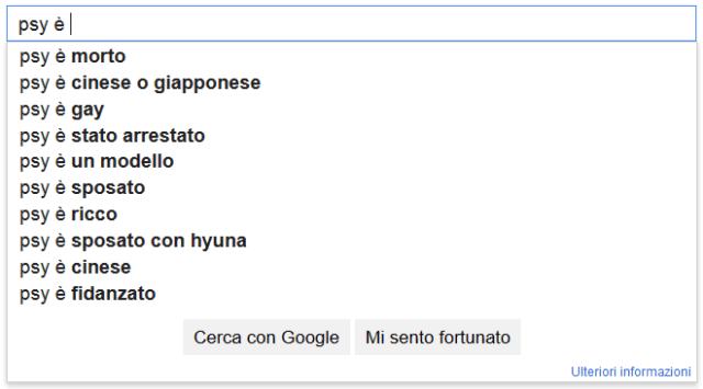 Suggerimenti Google divertenti e assurdi