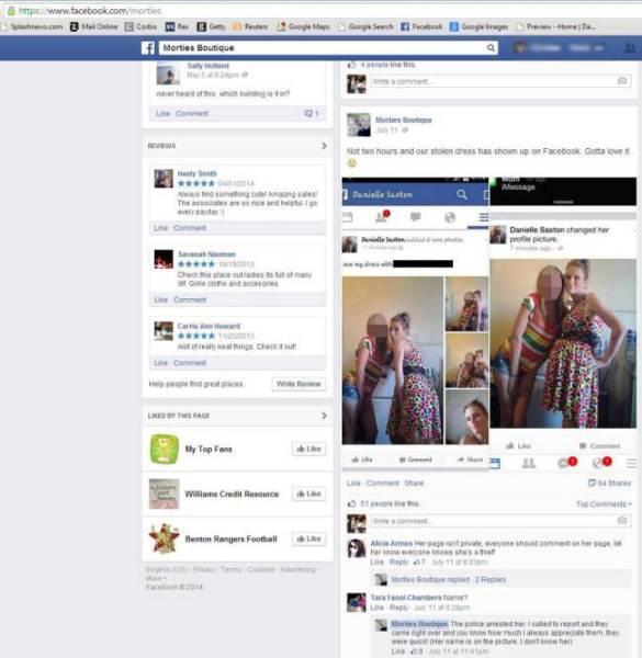 Ruba un vestito e pubblica le foto su Facebook (2)