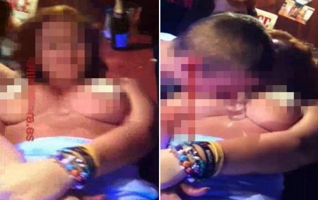 Festeggia 18 anni facendosi leccare la panna dal seno da 15 uomini