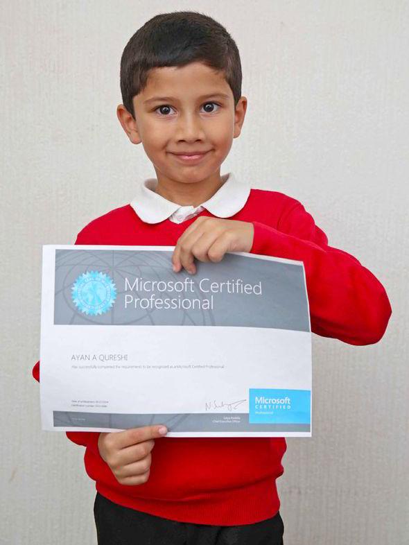 Ayan Qureshi, Microsoft Certified Professional a soli cinque anni (2)