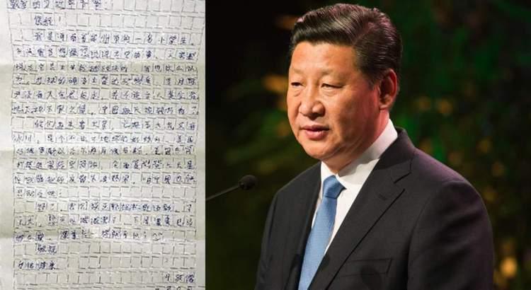 Bimbo scrive lettera al Presidente cinese dicendogli di perdere peso, censurata