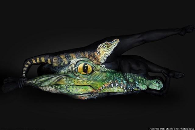 Shannon Holt - body painter, ritratti di animali su corpi umani (8)