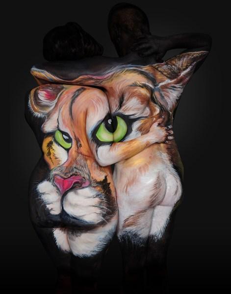 Shannon Holt - body painter, ritratti di animali su corpi umani (6)