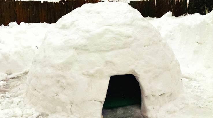 Costruisce un igloo in giardino e lo affitta per €9 a notte (2)