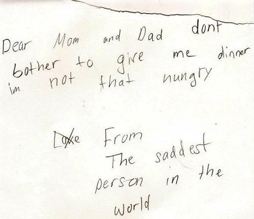 15 bigliettini strani e divertenti scritti dai bambini