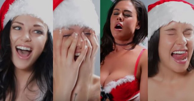 Video: ragazze cantano 'Silent Night' mentre hanno un orgasmo