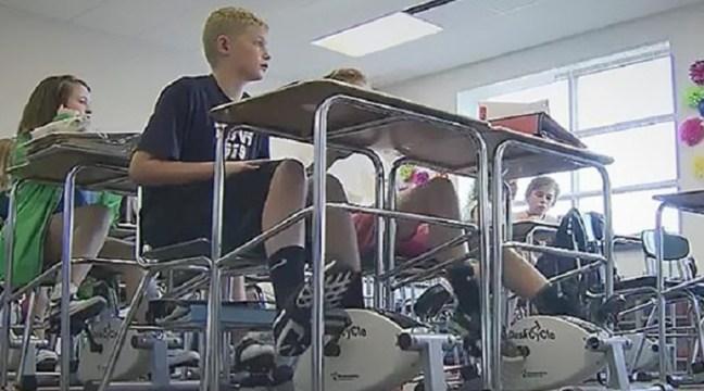 Cyclette in classe sotto il banco per aumentare la produttività: funziona!