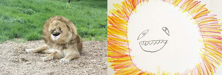 Padre rende reali i disegni di suo figlio con risultati grotteschi-2