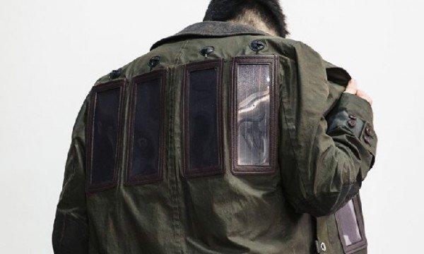 Designer giapponese crea cappotto a energia solare