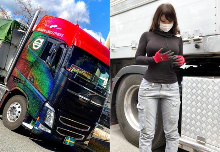 Rino Sasaki, la donna camionista più bella del mondo