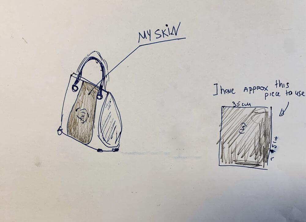 Donna chiede aiuto per produrre una borsa di pelle fatta con la sua gamba amputata