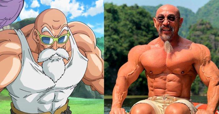 Il sosia del Genio delle Tartarughe di Dragon Ball è un bodybuilder 55enne