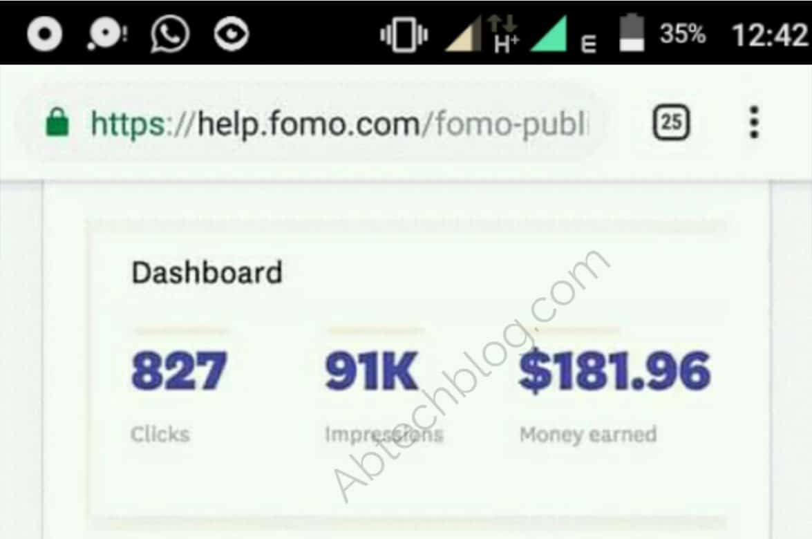FOMO Publisher Network Review: The New Adsense Alternative [Make More Than $300/Month]