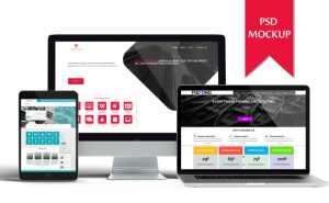 Creative PSD website mockup