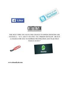 CRITICISM (1)