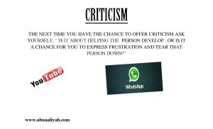 Clear advice for the Blogger, Tweeter, YouTube, and FB critics