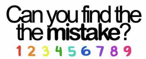 Find-the-mistake