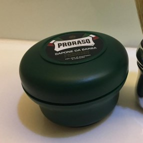 The Proraso shaving bowl is contoured to fit your hand when building lather with the brush.