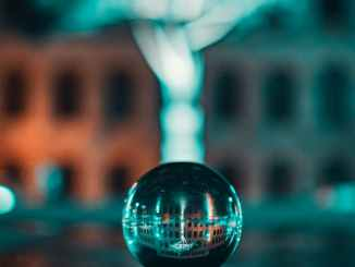 selective focus photography of lensball