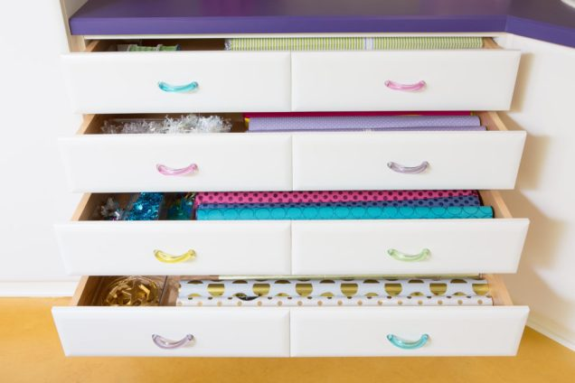 Organized Gift Wrap