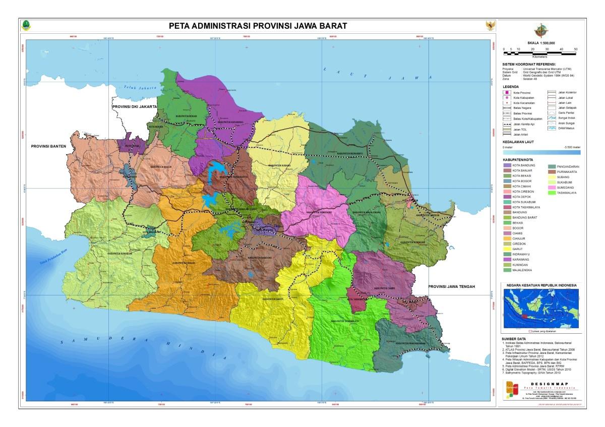 Letak Geografis Jawa Barat